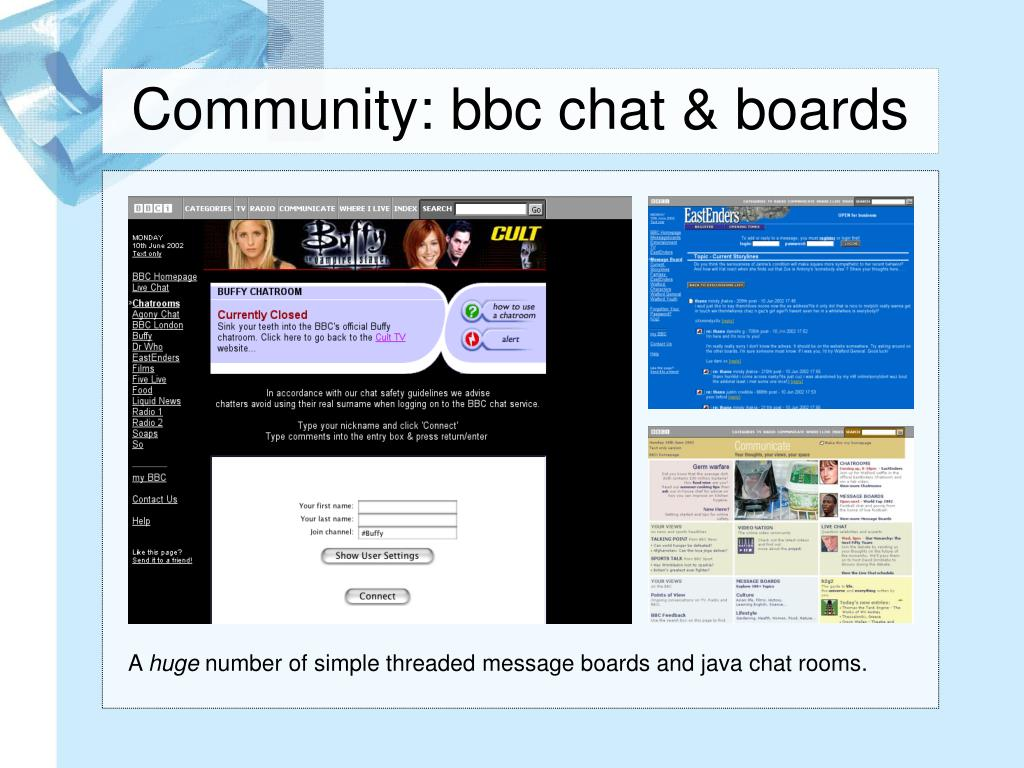 Community: bbc chat & boards