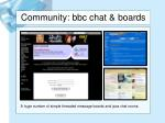 community bbc chat boards