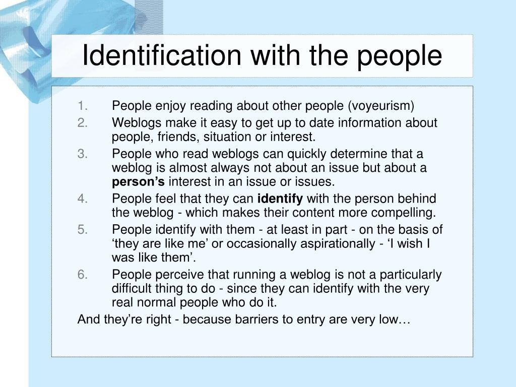 Identification with the people