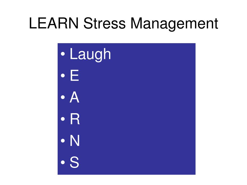 LEARN Stress Management