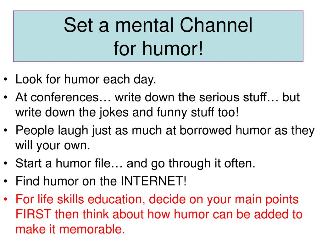 Set a mental Channel