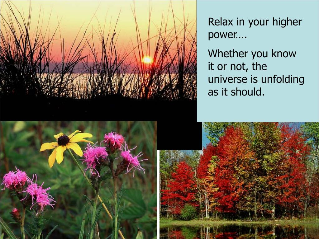Relax in your higher power….