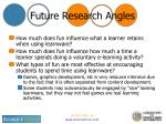 future research angles
