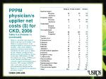 pppm physician supplier net costs for ckd 2006 table 5 a volume 1 continued
