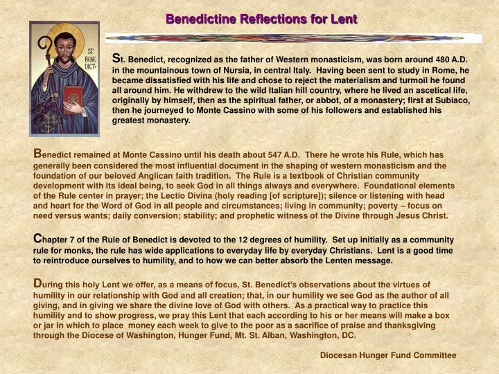 Benedictine Reflections for Lent