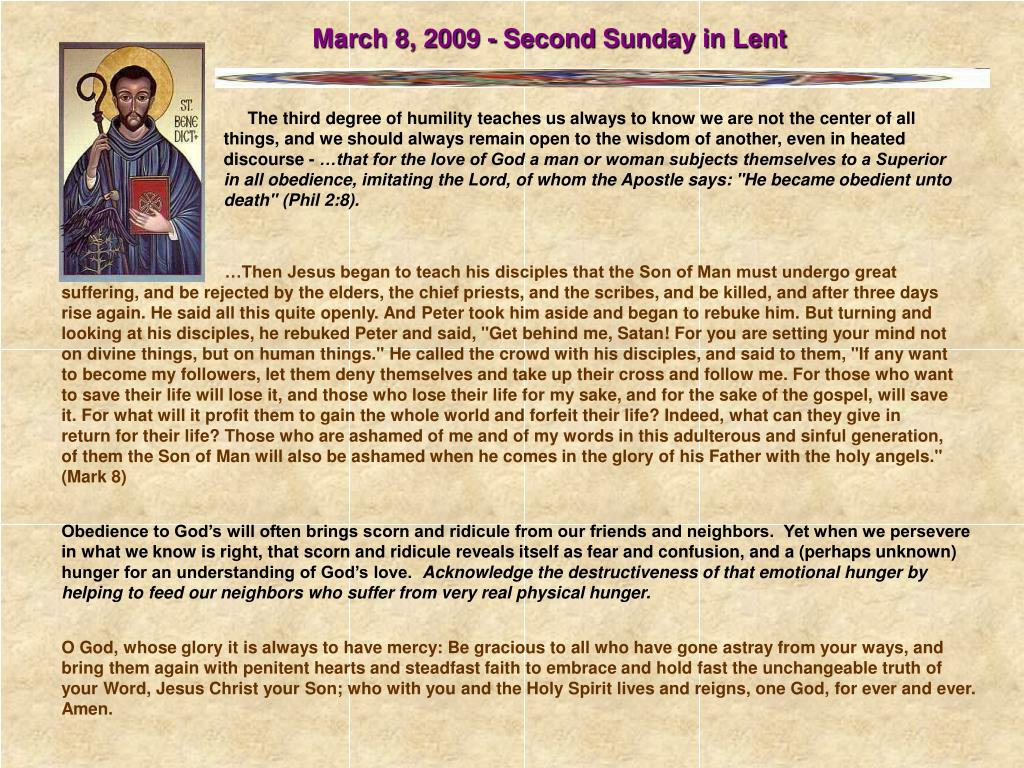 March 8, 2009 - Second Sunday in Lent