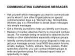 communicating campaigns messages
