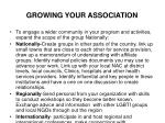 growing your association