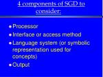 4 components of sgd to consider