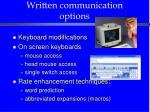 written communication options