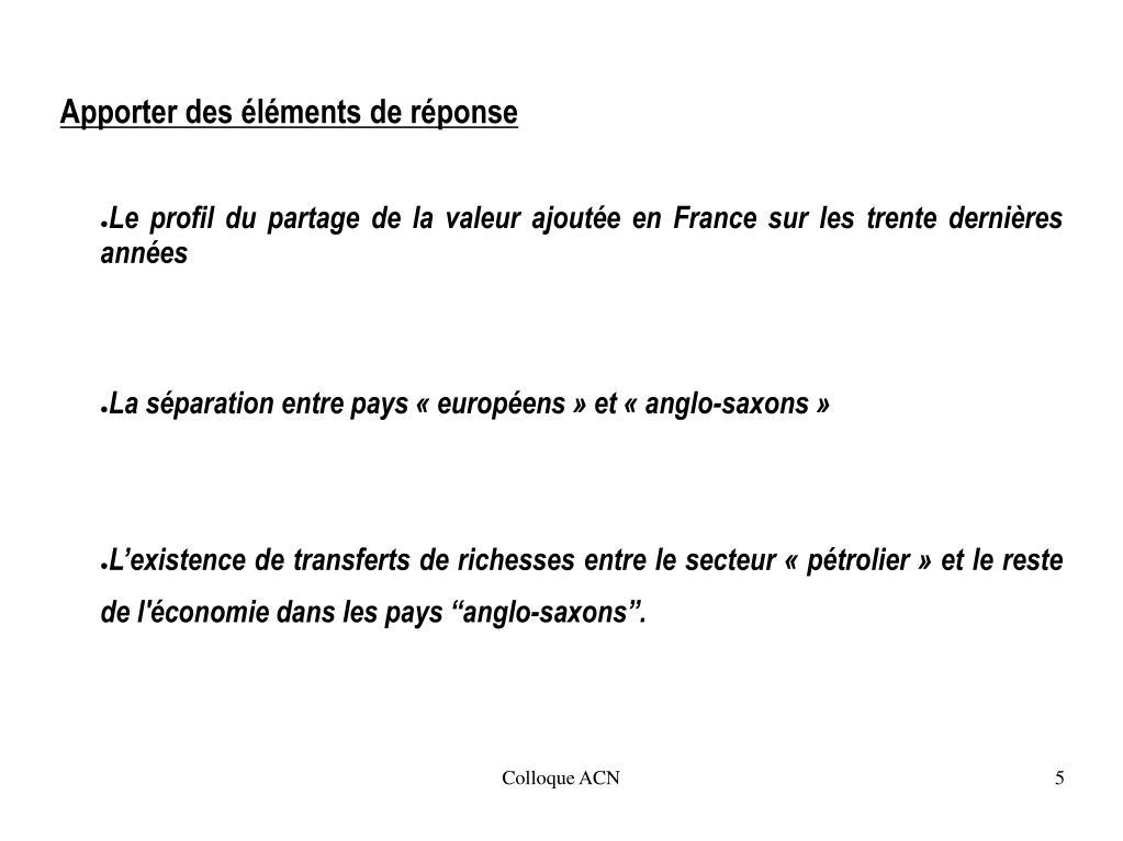 Le profil du partage de la valeur ajoutée en France sur les trente dernières années