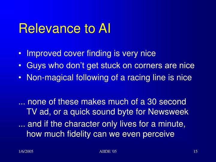 Relevance to AI