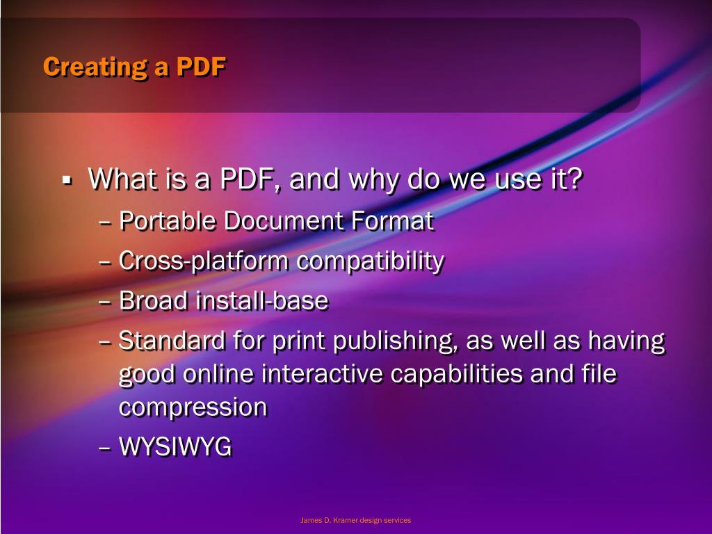 Creating a PDF