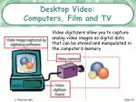 desktop video computers film and tv