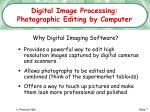 digital image processing photographic editing by computer