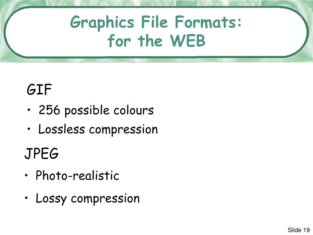 Graphics File Formats: