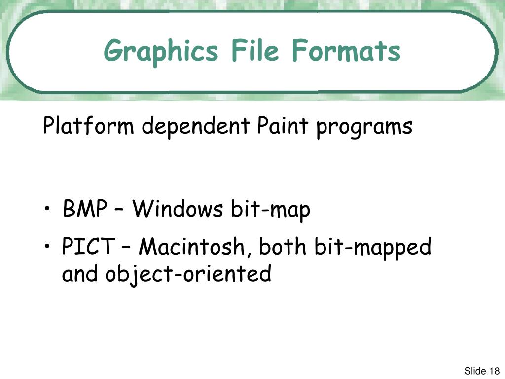Graphics File Formats