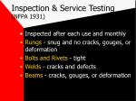 inspection service testing nfpa 1931