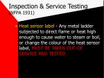 inspection service testing nfpa 193121