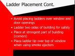 ladder placement cont