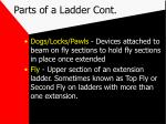 parts of a ladder cont