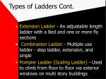 types of ladders cont