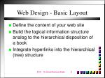 web design basic layout