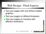 web design final aspects