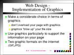 web design implementation of graphics