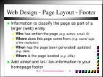 web design page layout footer