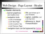 web design page layout header