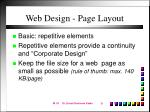 web design page layout