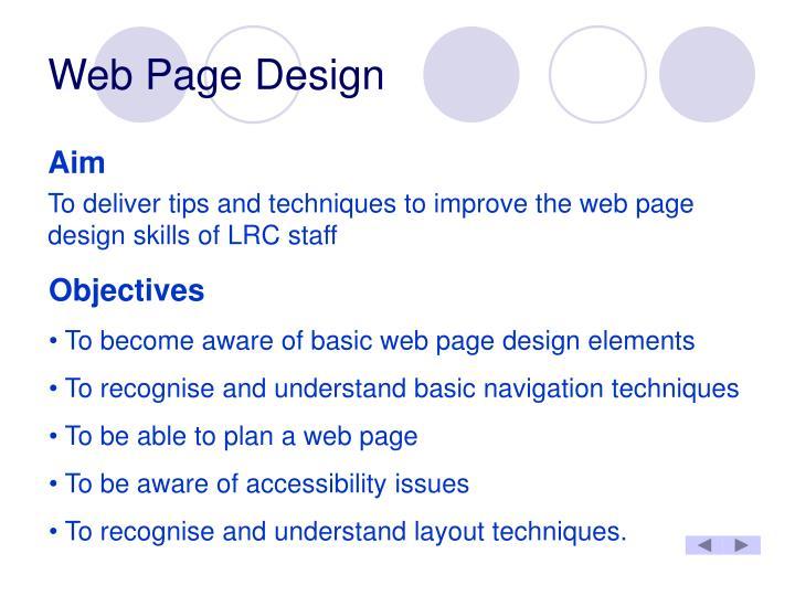 Web page design2