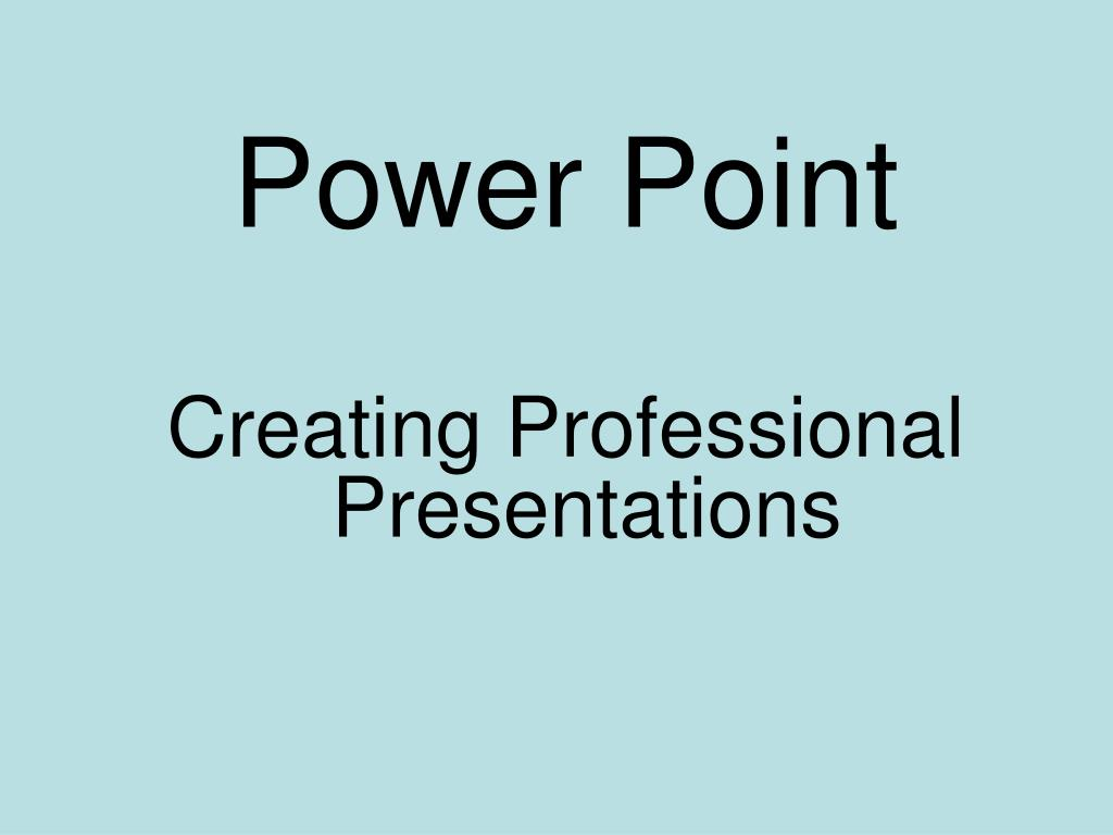 power point l.