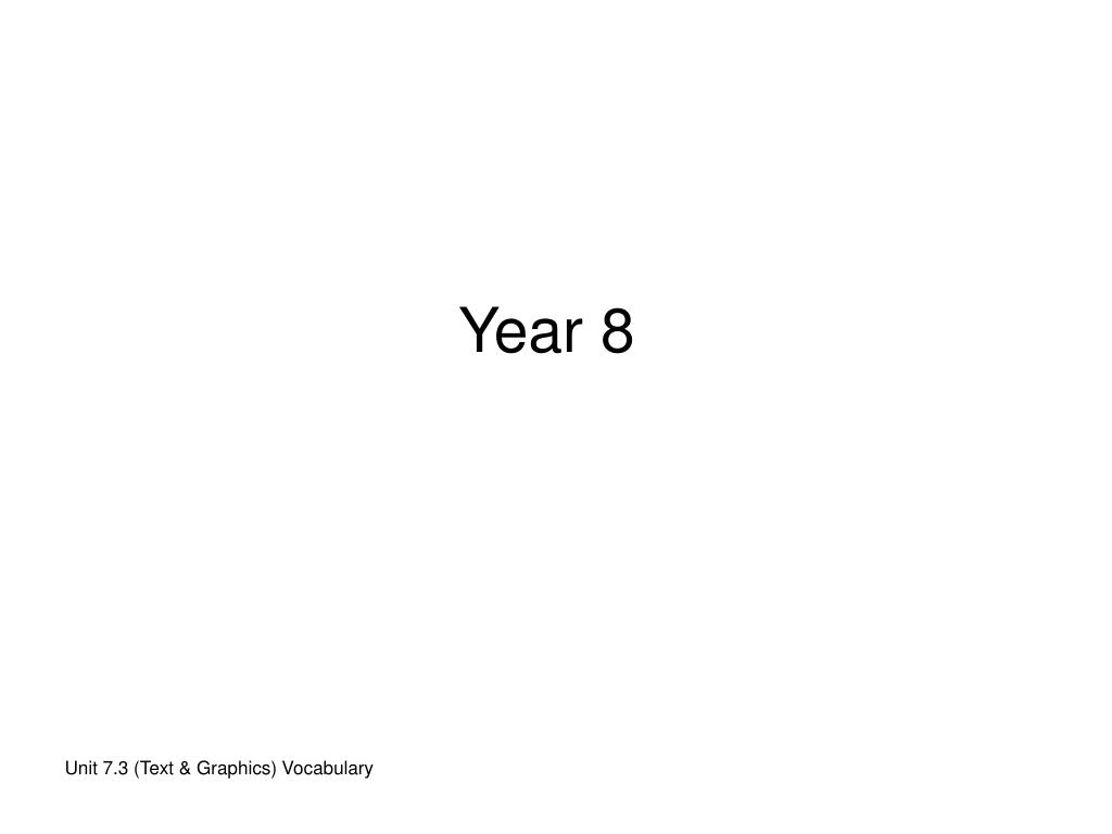 Year 8