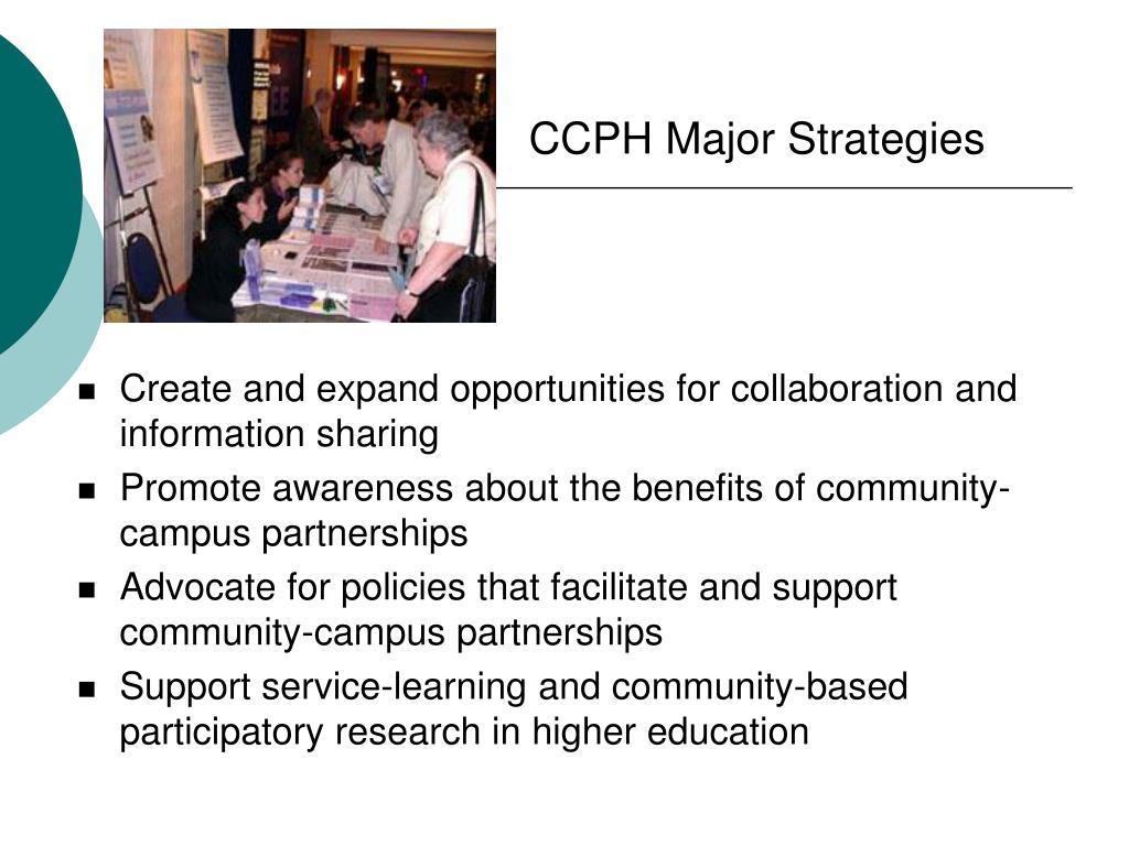 CCPH Major Strategies