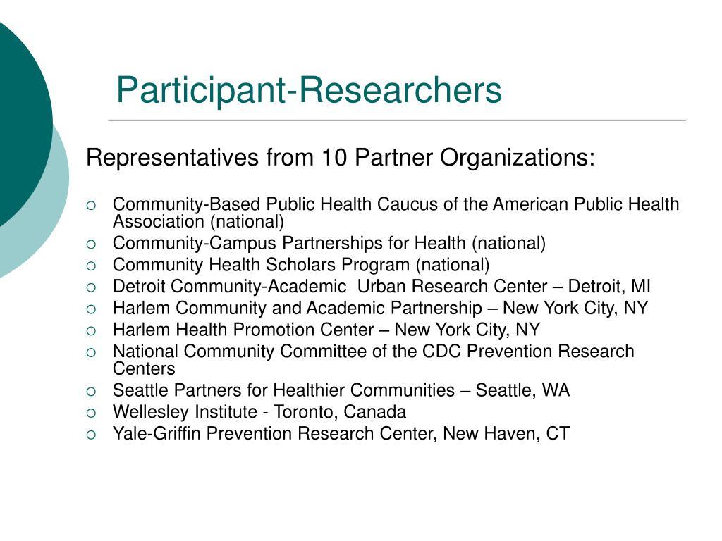 Participant-Researchers