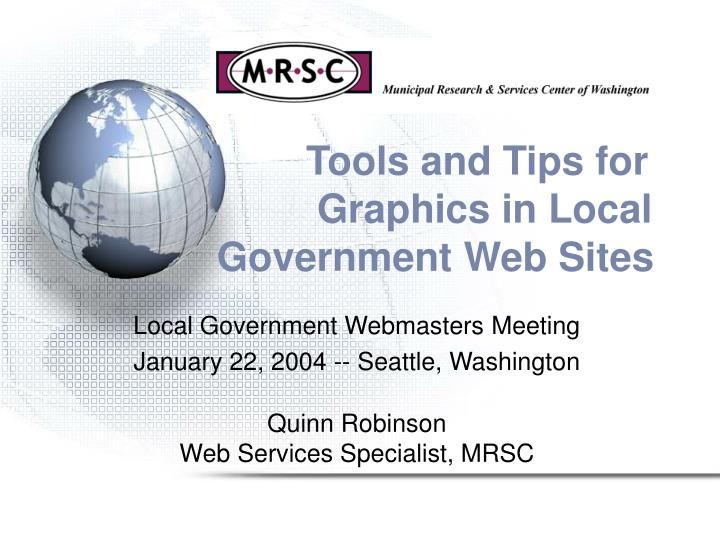tools and tips for graphics in local government web sites n.