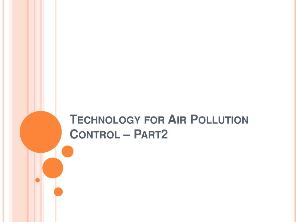 technology for air pollution control part2 l.