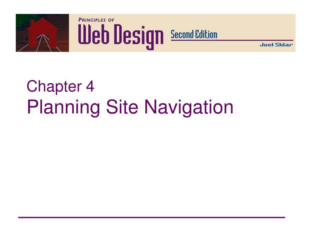 chapter 4 planning site navigation l.