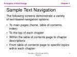 sample text navigation