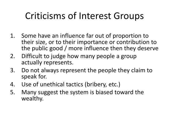 importance of interest groups