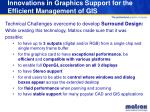 innovations in graphics support for the efficient management of gis7