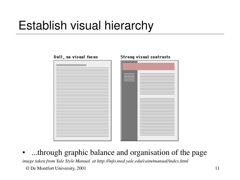 Establish visual hierarchy