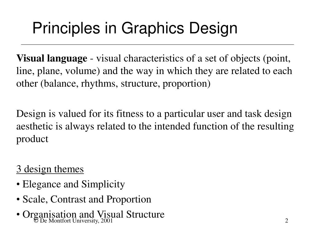 Principles in Graphics Design