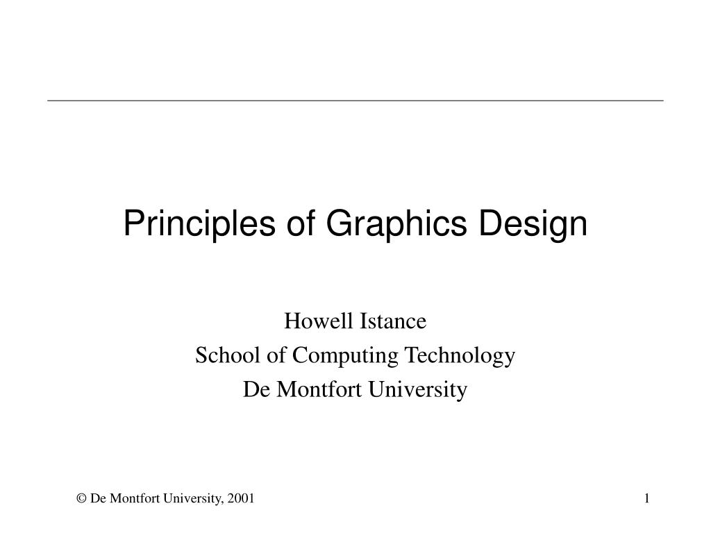 principles of graphics design l.