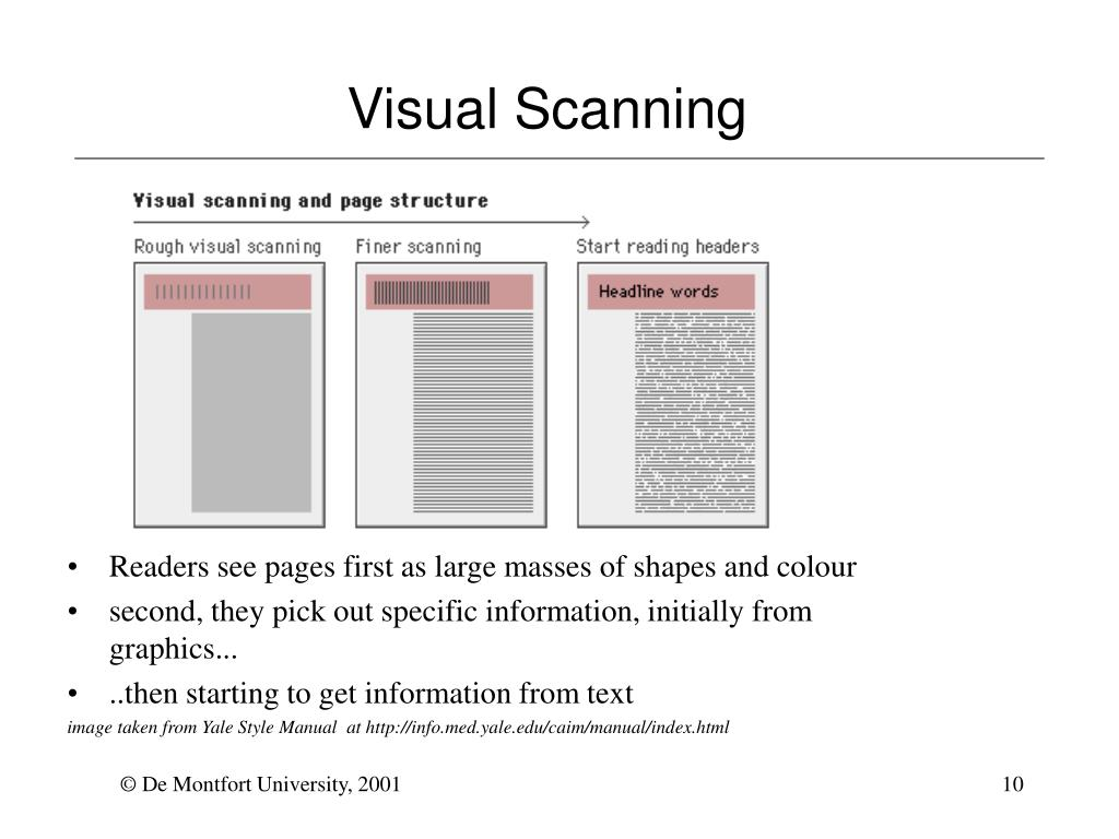 Visual Scanning