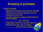 breeding is profitable