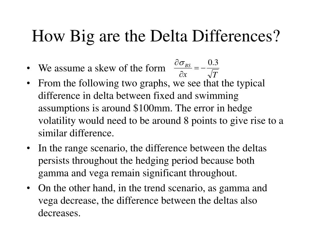 How Big are the Delta Differences?