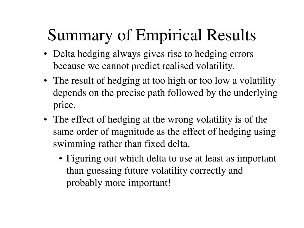 Summary of Empirical Results